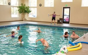 Warm WAter therapy at Majestic Pines in the pool